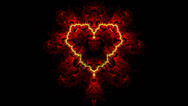 Stock Video Footage of red heart fractal