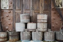 Wooden pail Stock Photos