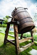 Oak casks. - stock photo