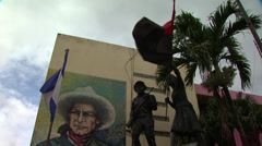 Nicaragua Sandinista Memorial 1 Stock Footage