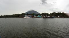 Lake Nicaragua Ferry Ometepe Island 2 Stock Footage