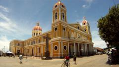 Nicaragua Granada Cathedral - stock footage