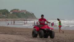 Nicaragua Beach ATV WS - stock footage