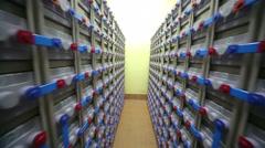 Accumulators  for telecommunication data center - stock footage
