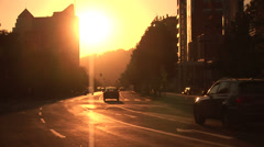 VALPARAISO, CHILE - Sunset in downtown, Chile Stock Footage