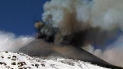 Etna ash Stock Footage
