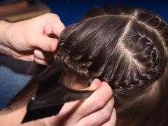 Weave braids Stock Photos