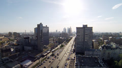 Day traffic in center of modern city, timelapse Stock Footage