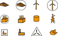 Stock Illustration of Energy, electricity, power icons