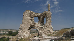 Ruins of an ancient castle - stock footage