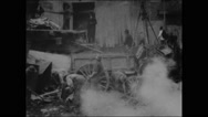 Excavating for a New York foundation (1903) Stock Footage