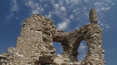 Ruins of an ancient castle (time lapse) - stock footage