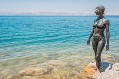 dead sea mud body care treatment jordan - stock photo
