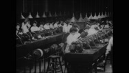 Coil winding section E, Westinghouse works (1904) Stock Footage