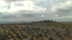 Laufskálavarða (Laufskalavarda) lava ridge timel apse Stock Footage