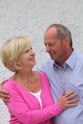 elderly couple in love - stock photo