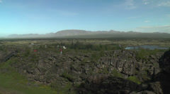 Þingvellir(Pingvellir, Thingvellir),  National Park in Iceland Panorama Stock Footage