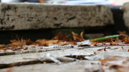 Stock Video Footage of Drug addict's discarded needle (16) zoom