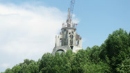 Stock Video Footage of Church cupola in construction in the park, timelapse