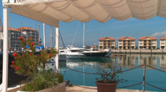 Queensway Quay harbour view, Gibraltar Stock Footage