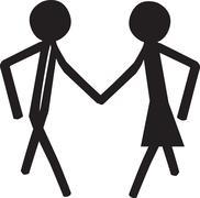 Dancing couple Stock Illustration