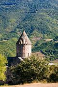 Tower of tatev monastery in armenia Stock Photos