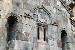 medieval geghard monastery in armenia - stock photo