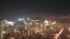Night Timelapse of 59 & 9th Stock Footage