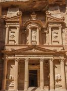 Al khazneh or the treasury in nabatean city of  petra jordan Stock Photos