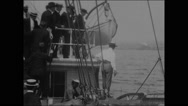 Departure of Peary and the Roosevelt from New York (1905) (III) Stock Footage