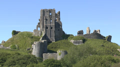 Corfe Castle, Dorset, UK Stock Footage