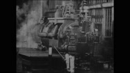 Assembling and testing turbines (1904) Stock Footage