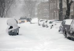 Through snowdrifts - stock photo