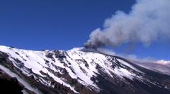 Etna Paroxysm Stock Footage