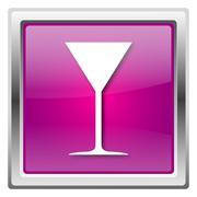 martini glass icon - stock illustration