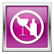 no alcohol icon - stock illustration