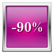 90 percent discount icon Stock Illustration