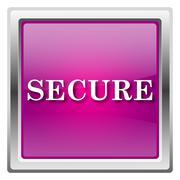 secure icon - stock illustration