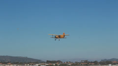 Yellow Biplane - stock footage