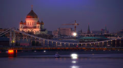 Moscow, Cathedral of Christ the savior Stock Footage