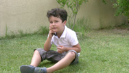 Stock Video Footage of little boy and mobil phone