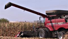 Cutting The Last Corn Stand - Two clip Series Stock Footage