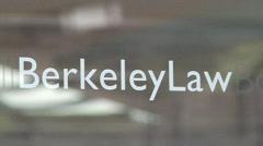 Berkeley School of Law Door - stock footage