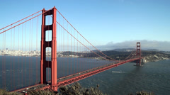 Golden Gate Bridge Timelapse with Fog Stock Footage