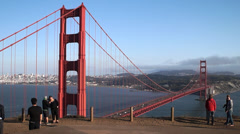 Golden Gate Bridge Timelapse with Tourist - stock footage