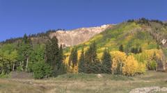 Rocky Mountain Landscape in Fall - stock footage