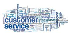 Customer service concept in word cloud Stock Illustration