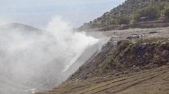 Hd: garbage dump burning smoke - stock video Stock Footage