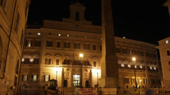 Montecitorio, Rome Stock Footage