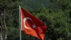 Turkey flag - HD Stock Footage